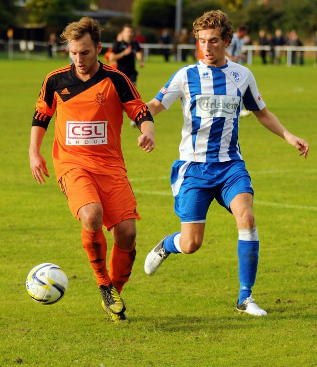 Basingstoke Gazette: Sam Argent, Hartley's hero on Monday night, in action during last Saturday's game.