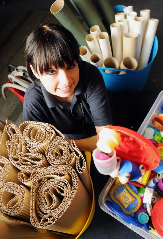Basingstoke Gazette: Kirsty Whitlock at the scrap-store
