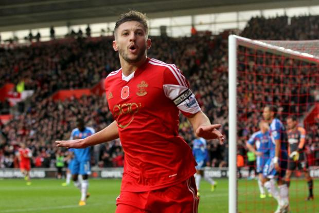 Basingstoke Gazette: Adam Lallana celebrates his wonder goal against Hull