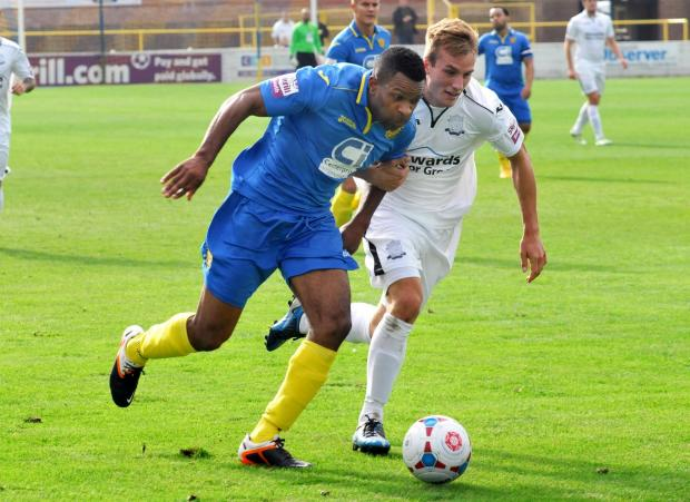 Kezie Ibe looks set to lead the line for Basingstoke Town on Saturday.