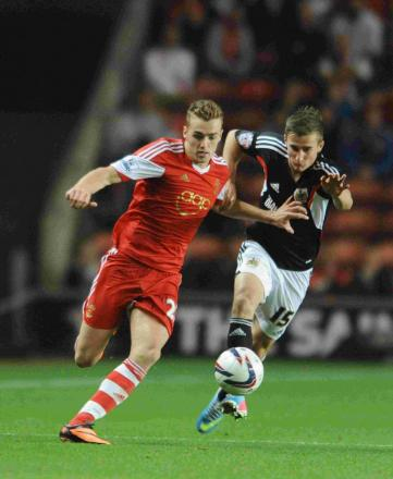 Calum Chambers (left) in action for Saints