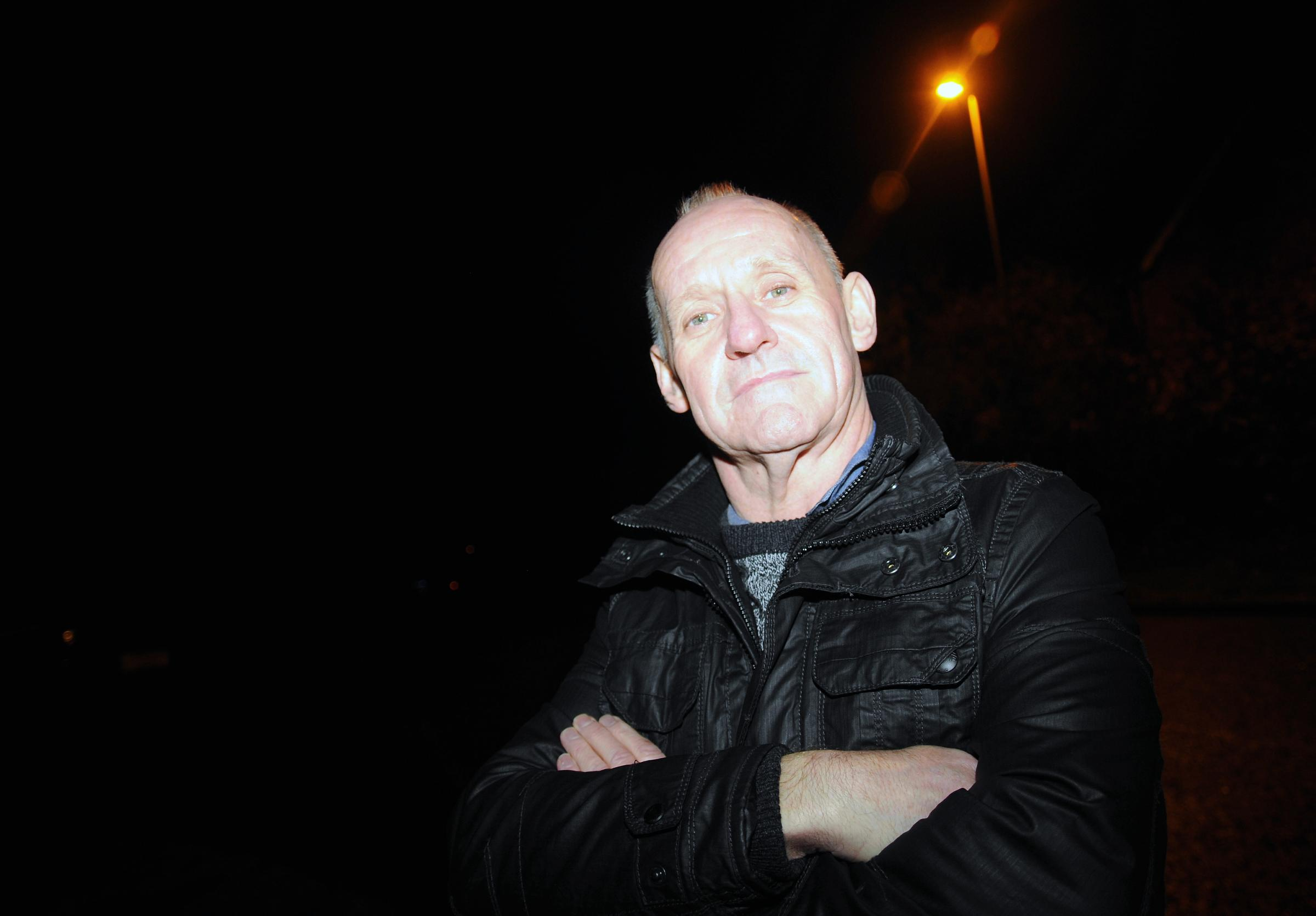 Trevor Lemar says residents are still in the dark in Thornhill Way, Chineham as they wait for new street lights to work
