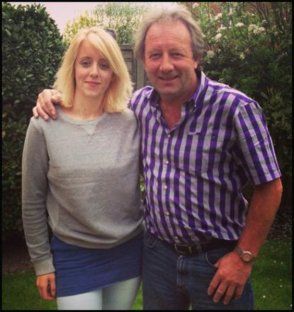 Jodie with her dad Jimmy Case