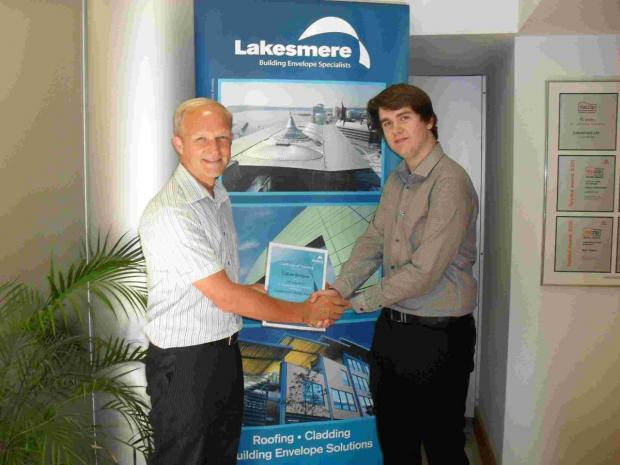 Lakesmere's Technical Manager John Wilson and work placement student Callum Bridges