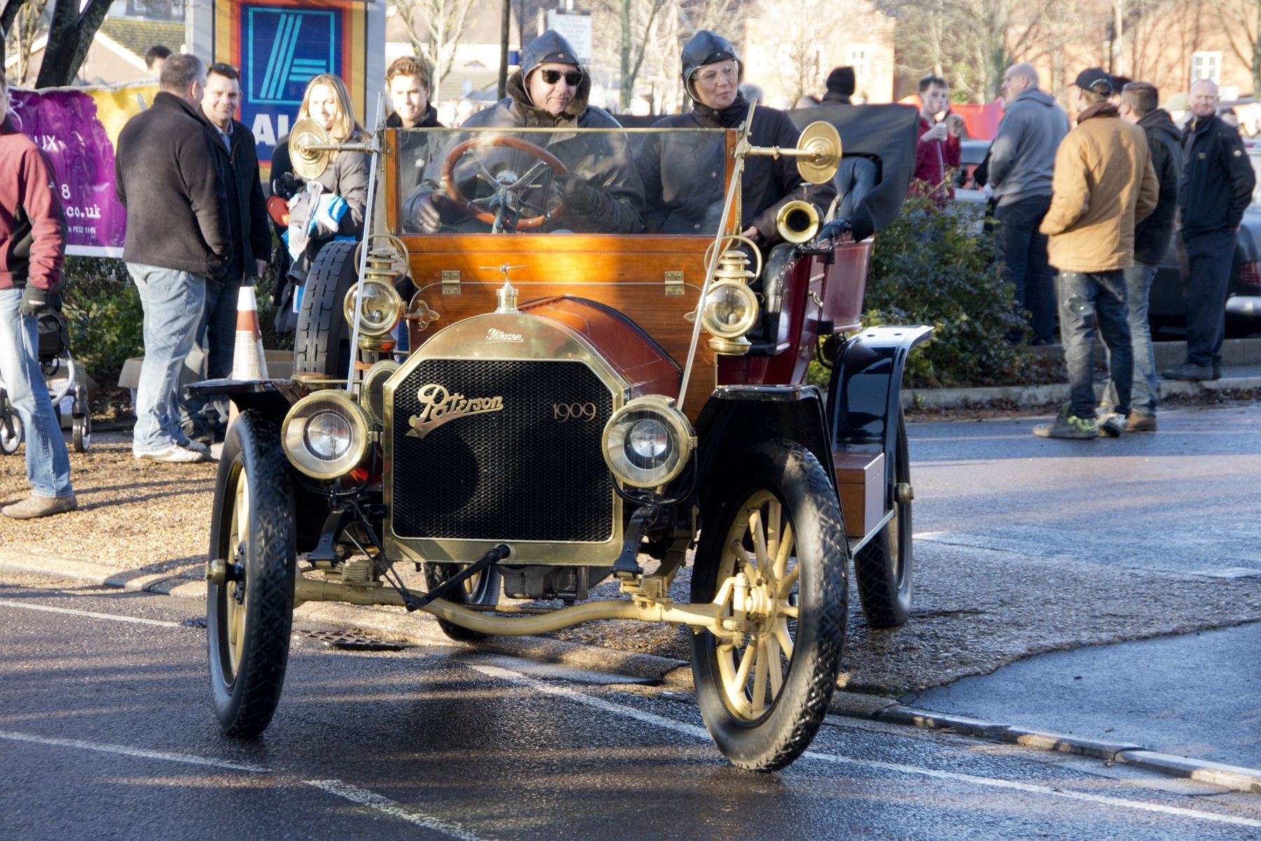 These hardy 1909 Paterson owners brave the cold