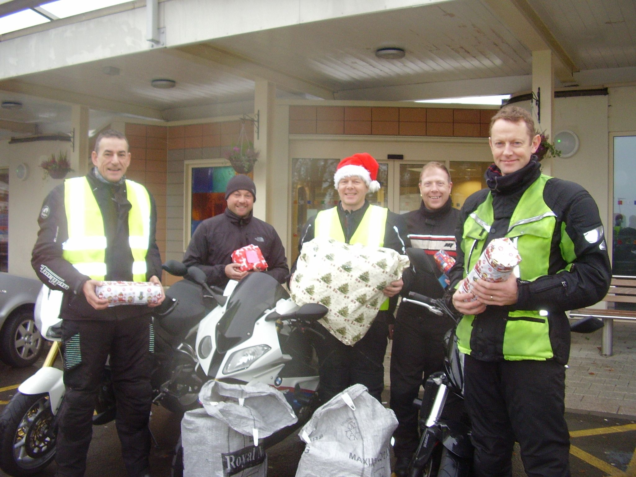The kind-hearted bikers make their special delivery