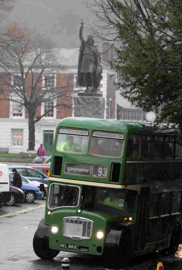 Basingstoke Gazette: Heritage buses and coaches dating back to the 1950s transported people across the county.