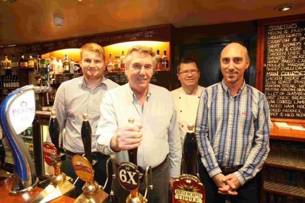 Basingstoke Gazette: (left to right): Joe Hastings, Richard Crawford, Mark Goodman and David Brockell