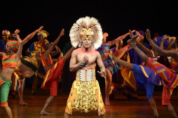 Nicholas Nkuna as Simba with the original UK touring company