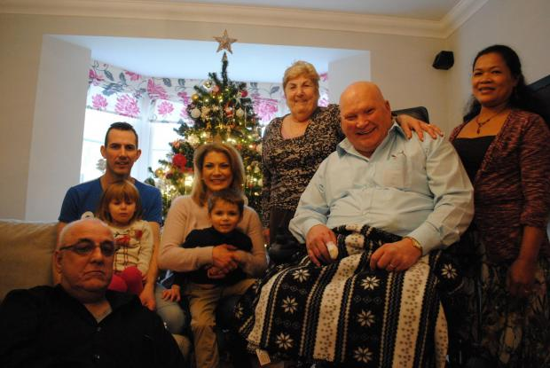 Basingstoke Gazette: From left: Mark Mansfield, Brian's son, Collette's husband Jess with