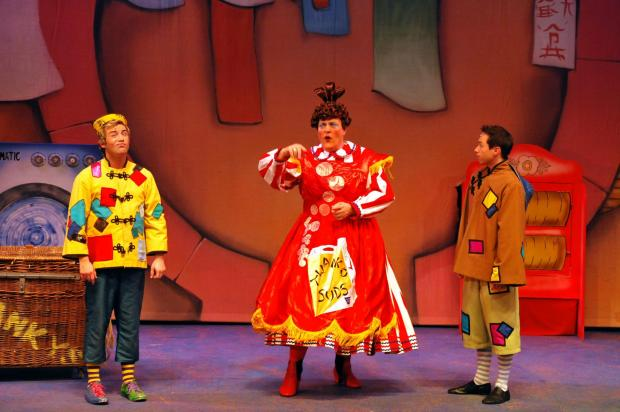 Basingstoke Gazette: Performers of Aladdin on stage at The Anvil