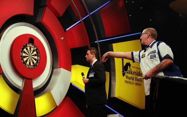 Basingstoke's Paul Hogan in action on the Lakeside stage.