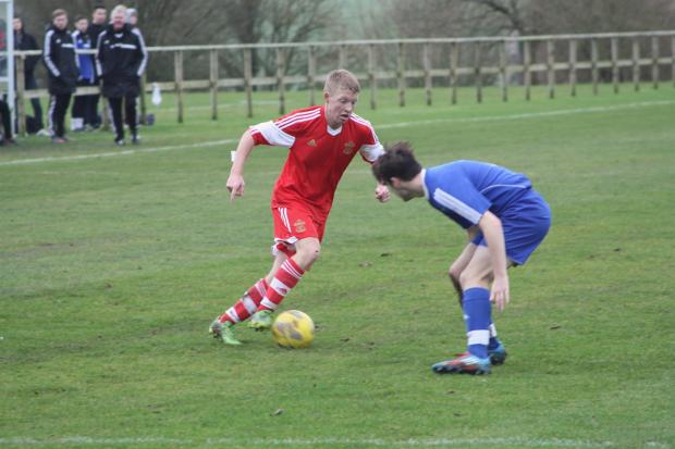 Tommy Wright was on target for Sparsholt College against Yeovil on Friday