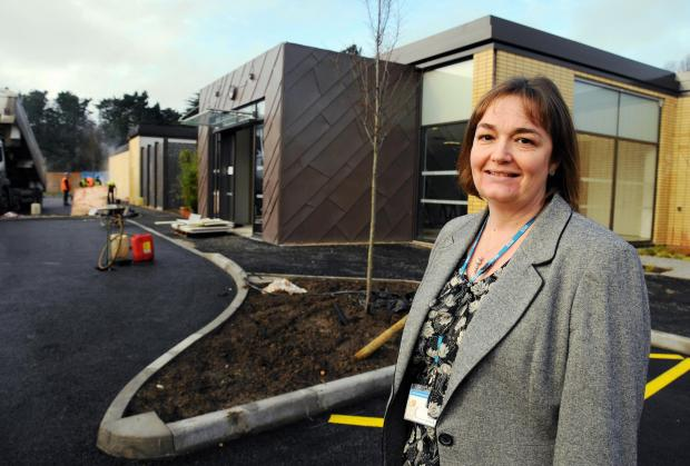 Dr Lara Alloway outside the new radiotherapy building
