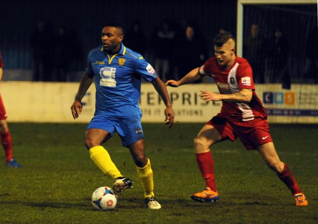 Basingstoke Gazette: Kezie Ibe's goal was a rare highlight on a bad night for Basingstoke Town.