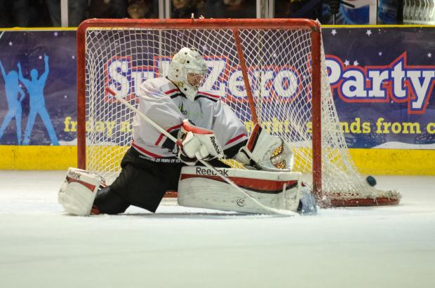 Basingstoke Gazette: Dean Skinns saved a penalty shot