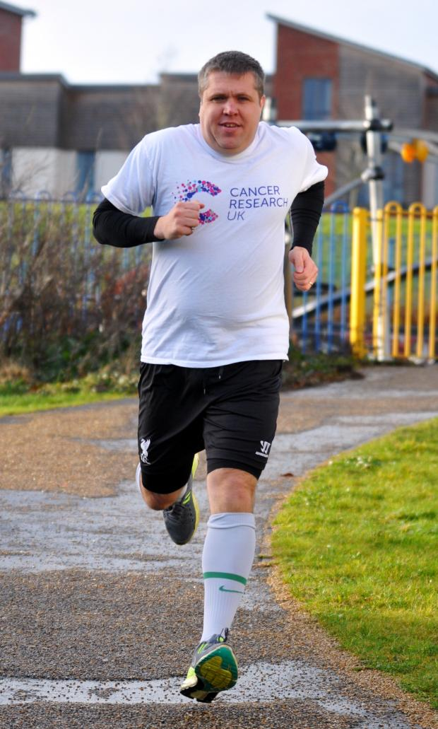 Basingstoke Gazette: Stuart Dickinson ran every day for the whole of 2013