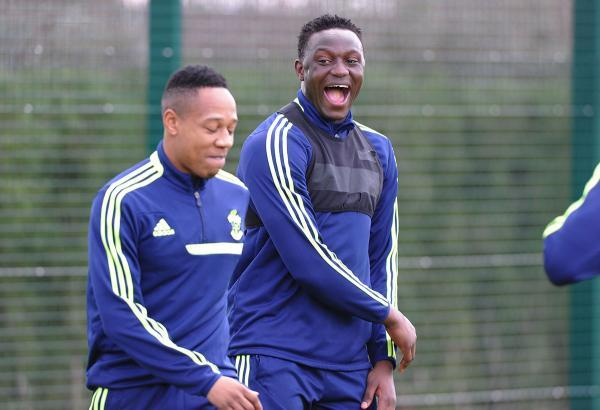 Basingstoke Gazette: Nathaniel Clyne and Victor Wanyama