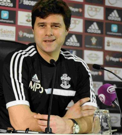 Mauricio Pochettino at yesterday's press conference.