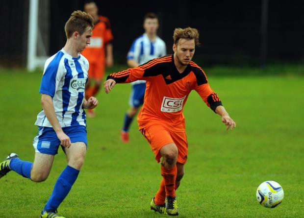 Sam Argent scored twice to give Hartley Wintney all three points away at Hanworth Villa.