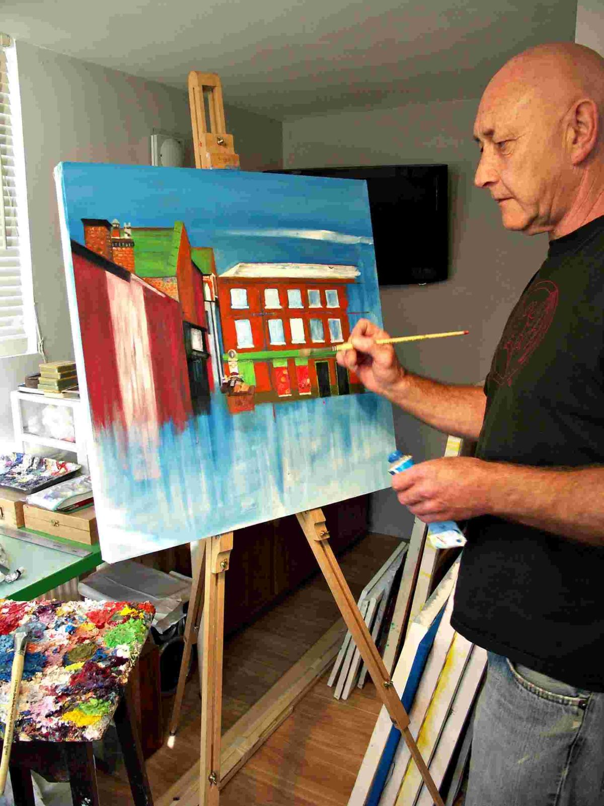 John Pothecary, 60, from Stanmore, has been painting all of his life