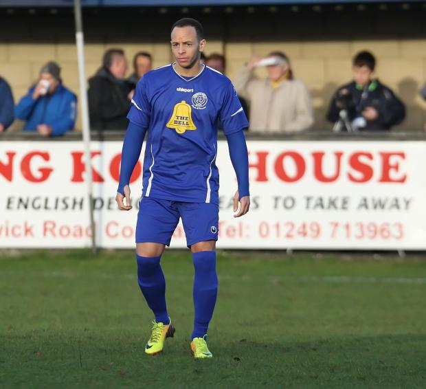 Basingstoke Gazette: Lloyd Macklin (pictured) and Jake Simpson were left out as Chippenham Town beat Weymouth and St Neots Town