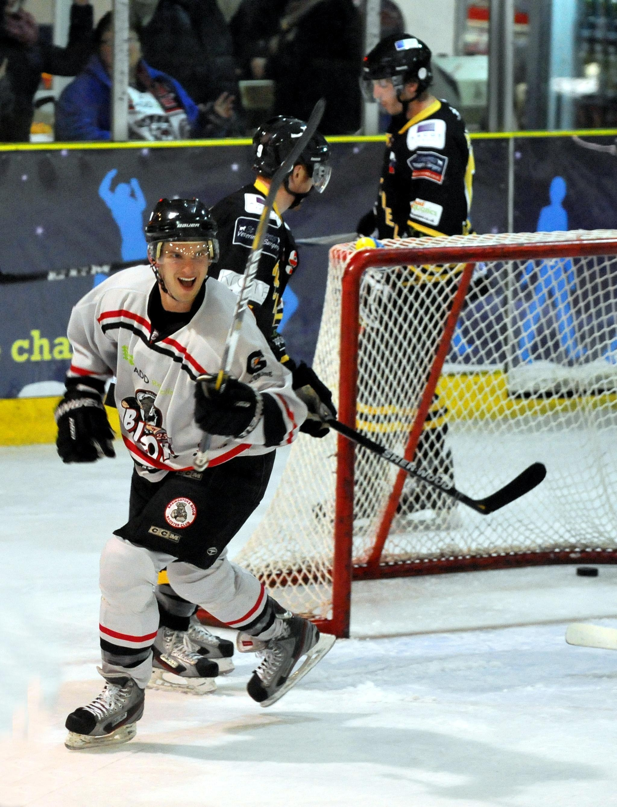 Joe Rand scored a hat-trick as the Basingstoke Bison took a commanding lead in their EPL Cup semi-final against the Guildford Flames.