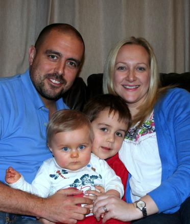 Rob and Sophie Molloy with their two children, Flossie and Joshua.
