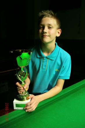 Mickey Joyce with the trophy he won in Bournemouth.