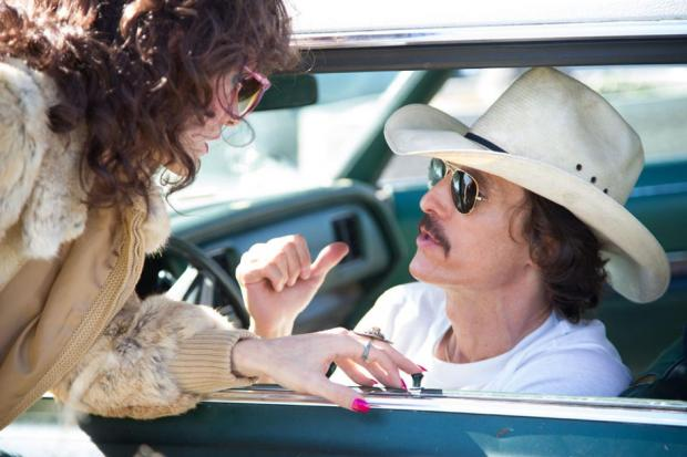 Jared Leto (Rayon) and Matthew McConaughey (Ron) in Dallas Buyers Club