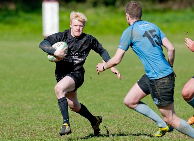 New 'Stoke scrum-half Alex Kane in action for Andover.