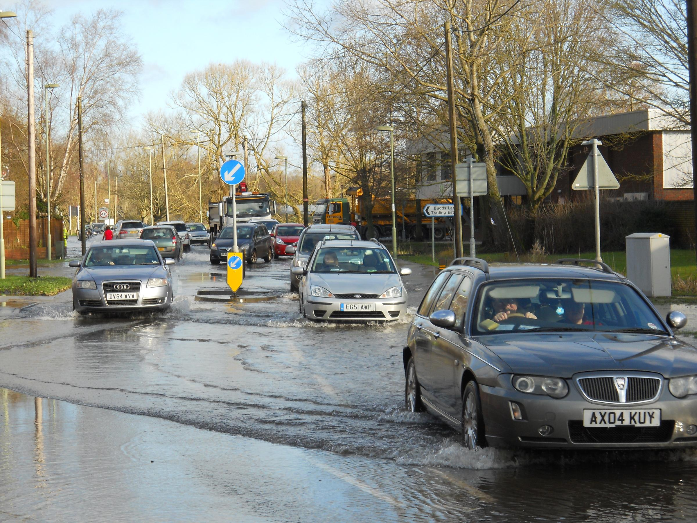 Flooding hits Greatbridge area of Romsey