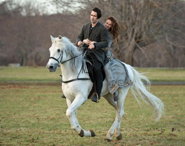 Colin Farrell and Jessica Brown Findlay in A New York Winter's Tale