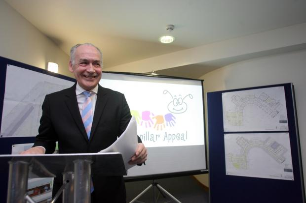 Alastair Stewart launches the campaign at Naomi House