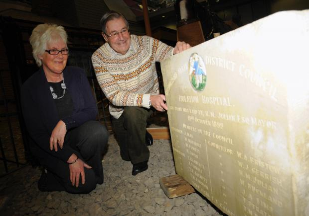 Debbie Reavell and Ian Williams, of Basingstoke Heritage Society