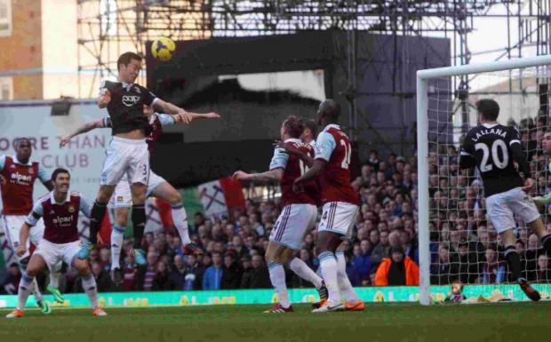 Maya Yoshida nods Saints into a 1-0 lead at Upton Park.