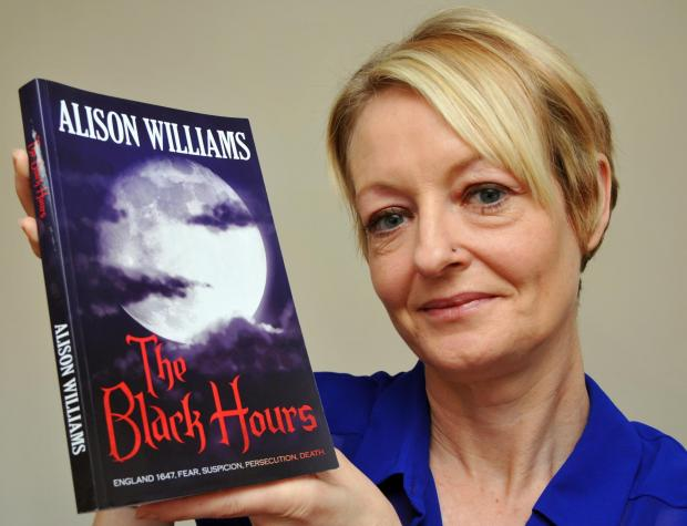 Alison Williams, with her historic novel, The Black Hours,