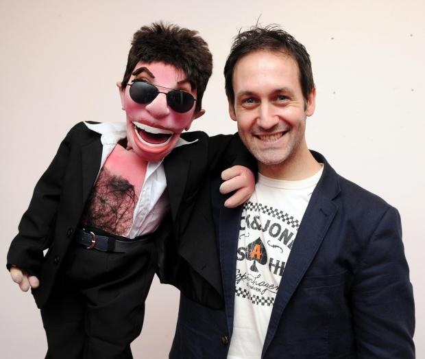 Basingstoke Gazette: Steve Hewlett with Little Simon Cowell.