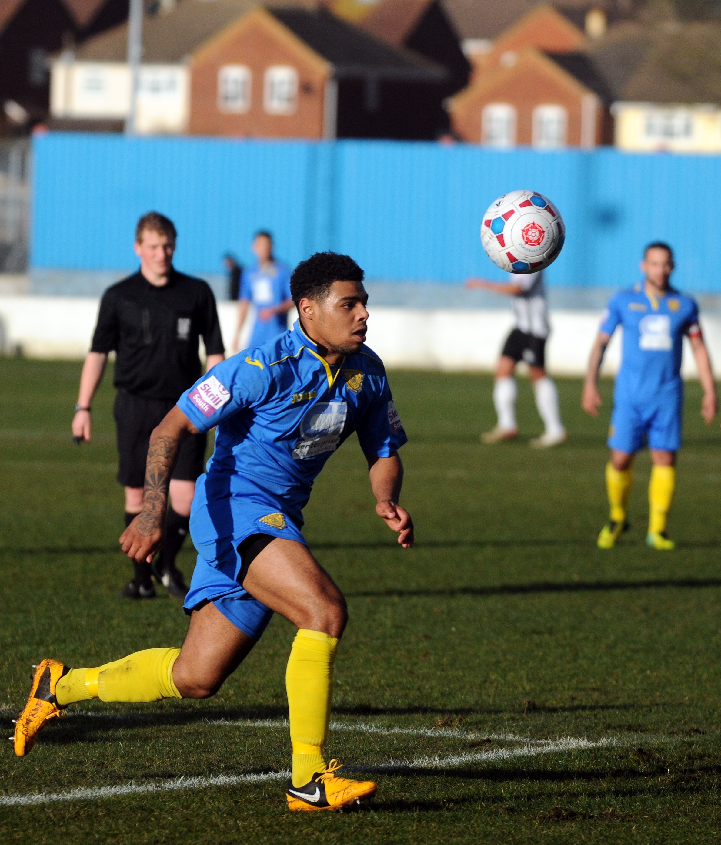Jordace Holder-Spooner scored Basingstoke Town's opening goal - but his side were unable to hold on to a 2-0 lead.