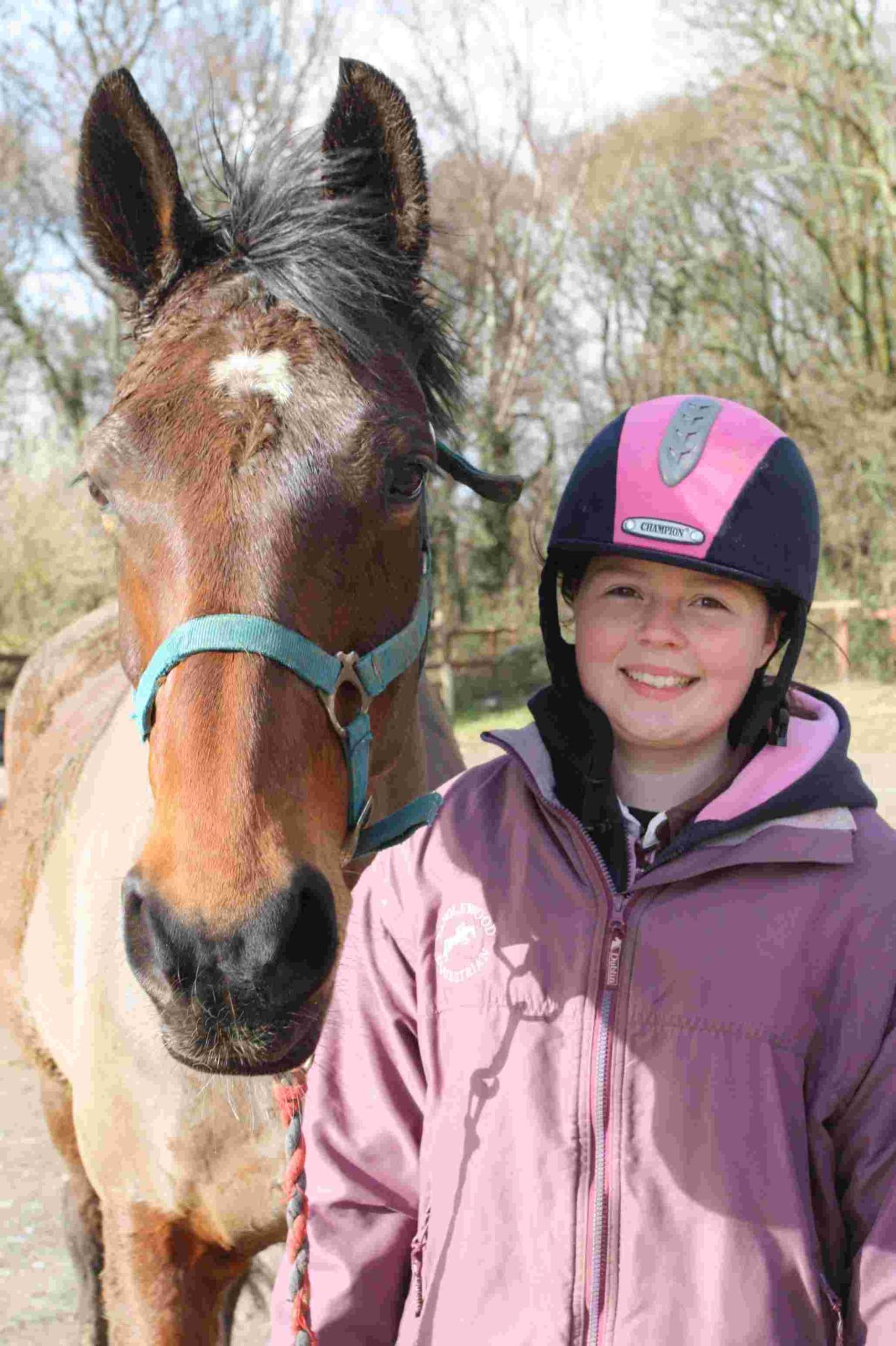 Claire Brewer is working towards a British Horse Society qualification