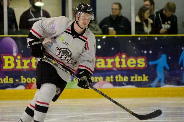 Basingstoke Gazette: Joe Greener was on the scoresheet last time the Bison played Swindon.