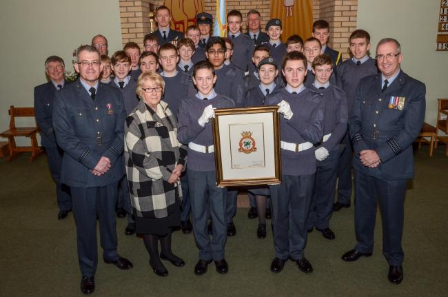 The 433 (Basingstoke) Squadron Air Cadets with their new crest.