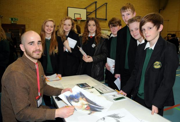Sky Arts Portrait Artist of the Year winner Nick Lord meets the pupils