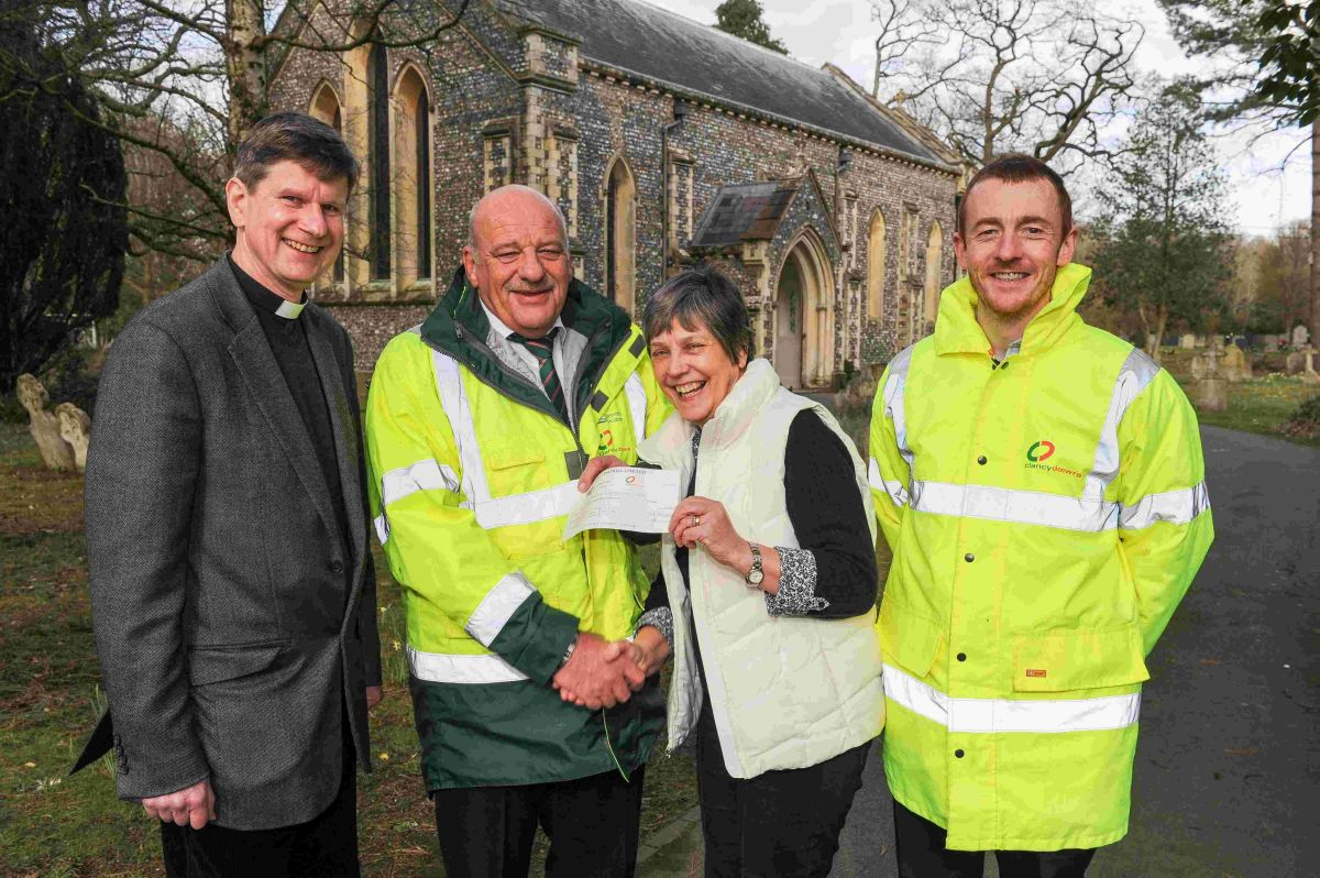 Clancy Docwra donated £400 to the