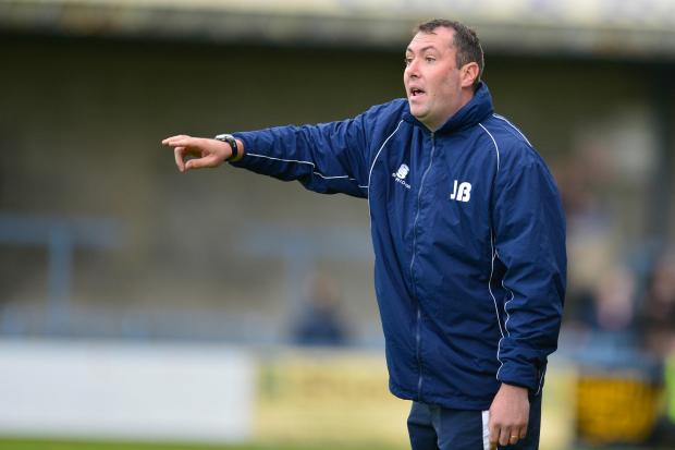 Under pressure: Basingstoke Town manager Jason Bristow