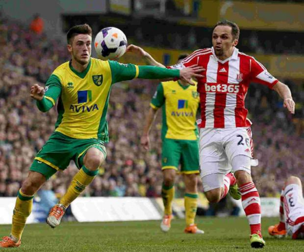 Ricky van Wolfswinkel, left, has not scored for Norwich since his first game last August.