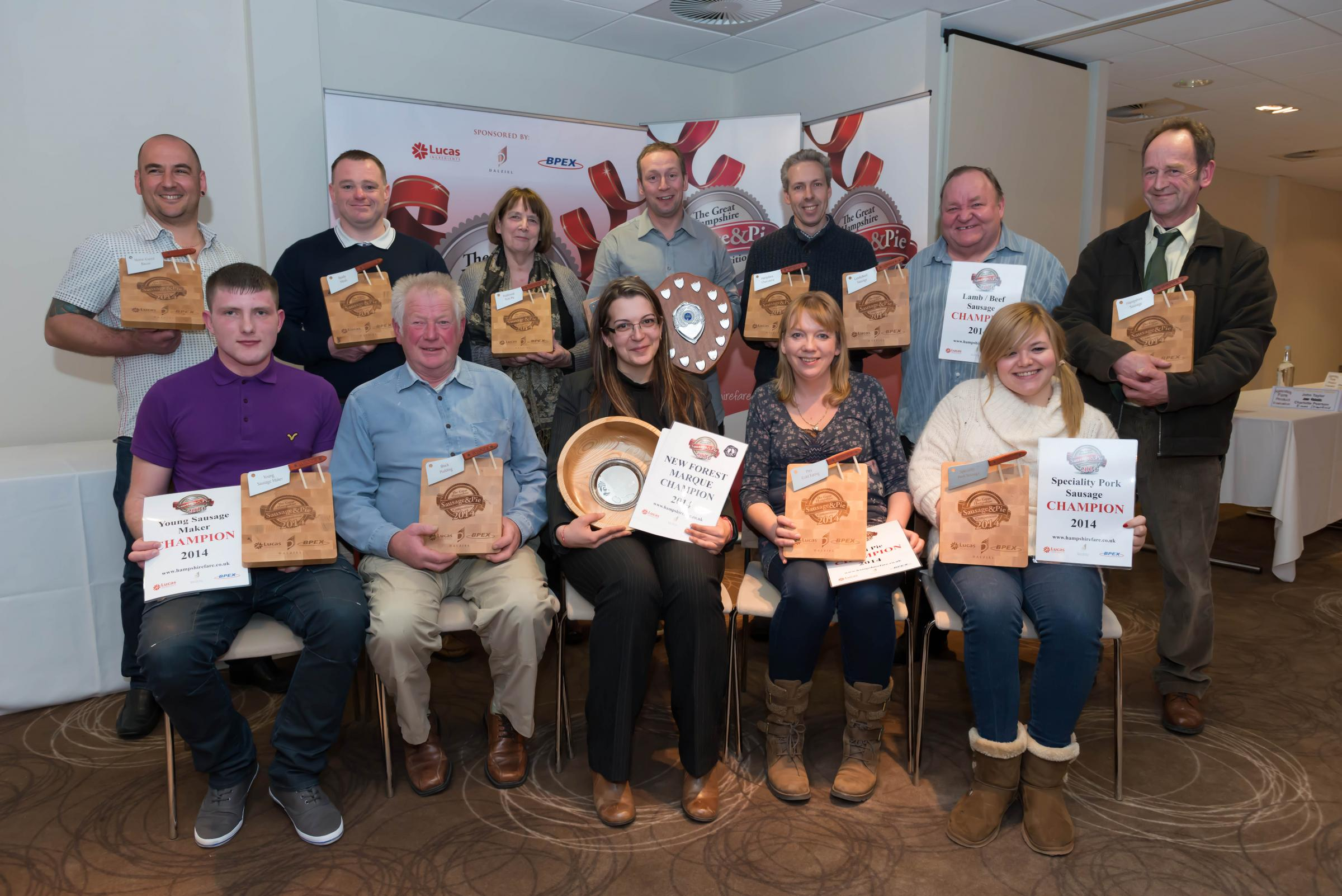 2014 winners of Great Hampshire Sausage & Pie Competition revealed