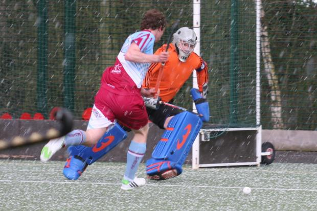 Adam Smith makes a save in the win at Spalding