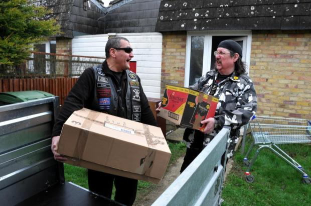 Bikers ride in to help Buckskin resident move from his flooded home
