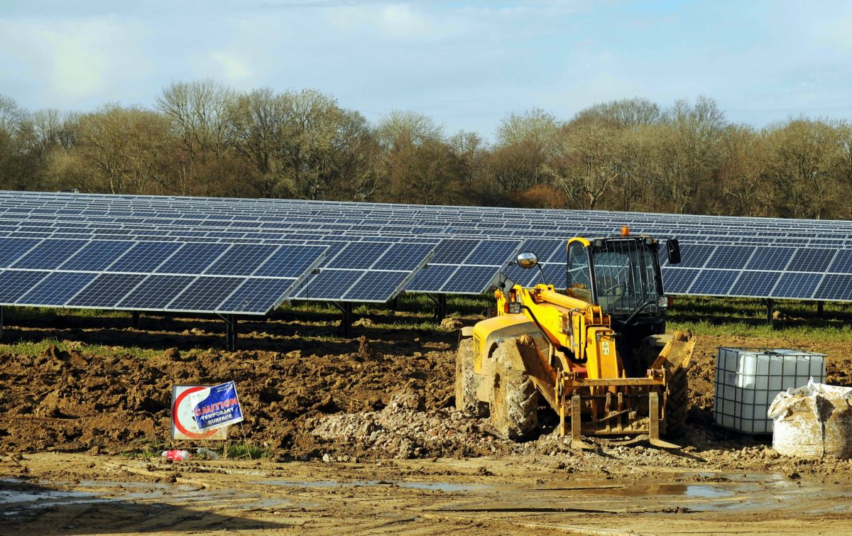 Thousands of solar panels being installed in Monk Sherborne